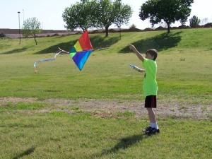 Photo of boy & kite