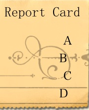 Report Card: Image created by author with a little help from the corner of a Mac Pages newsletter template