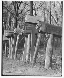 Row of rural mailboxes Library of Congress Photos 5a46561r