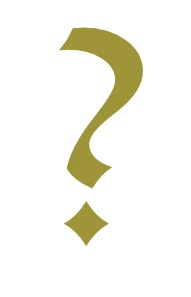 Question Mark in Lucida Blackletter gold, created by author