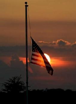 American Flag at Half Staff