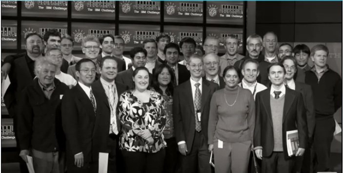 IBM Watson Team posing after Jeopardy