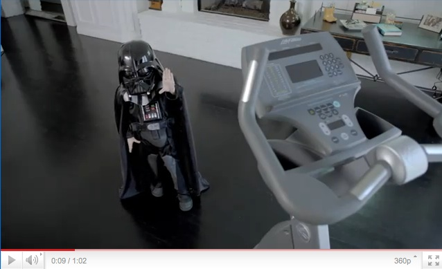 VW commercial mini Darth Vader