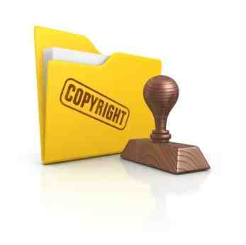 Copyright folder and stamp copyright Paga Design iStockPhoto 000014148465