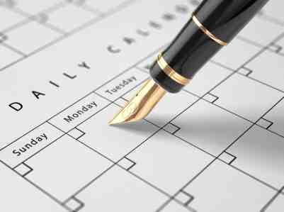 Fountain Pen and Calendar