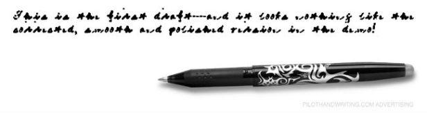 My Pilot handwriting sample 1