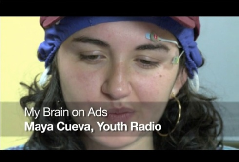 Screenshot of My Brain on Ads by Maya Cuevo