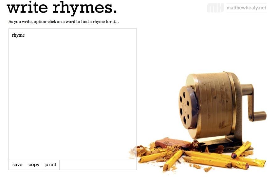 WriteRhymes screenshot