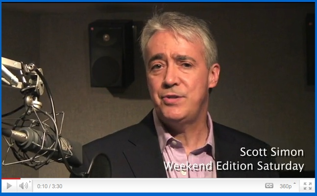 Scott Simon NPR How to tell a Story