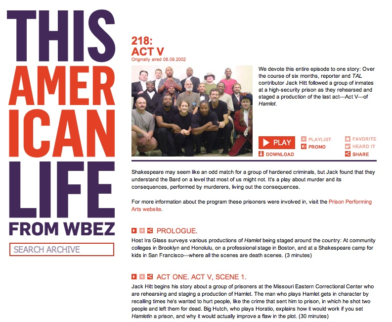 This American Life Hamlet in Prison, screenshot