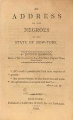 Jupiter Hammon Address to the Negroes of New-York