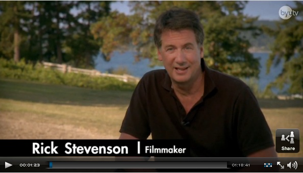 Rick Stevenson filmmaker screenshot BYU TV