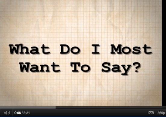 """What Do I Most Want to Say? William Kenower Author Magazine YouTube Screenshot"