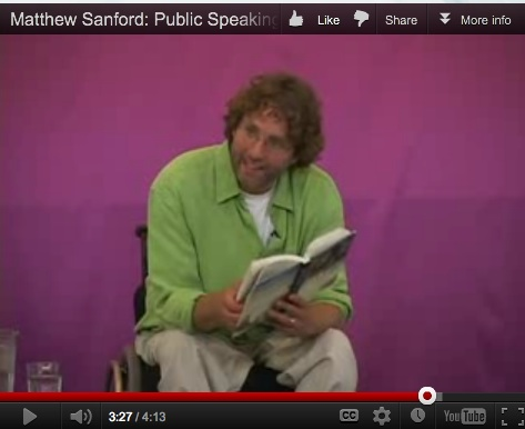Matthew Sanford reading from his book: demo video screenshot