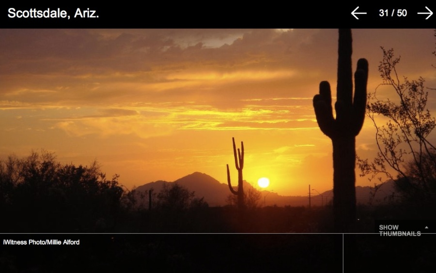 50 Stunning Sunsets of 2012 by Weather.com Millie Alford Scottsdale