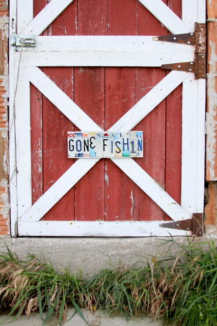 Gone-Fishin-License-Plate-Letter-Sign-by-DeAnna-Roose