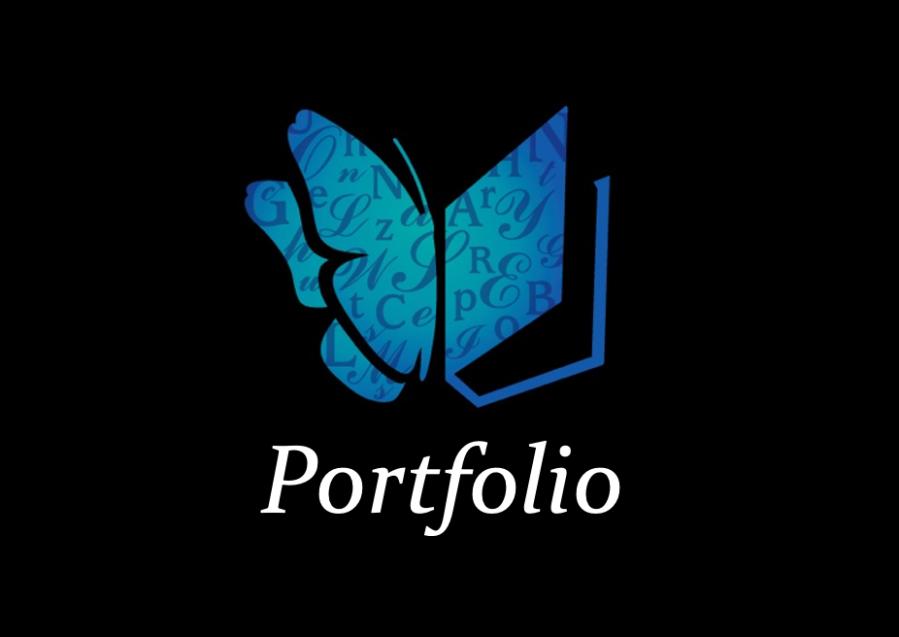 "Writers' Resort logo and title ""Portfolio"""